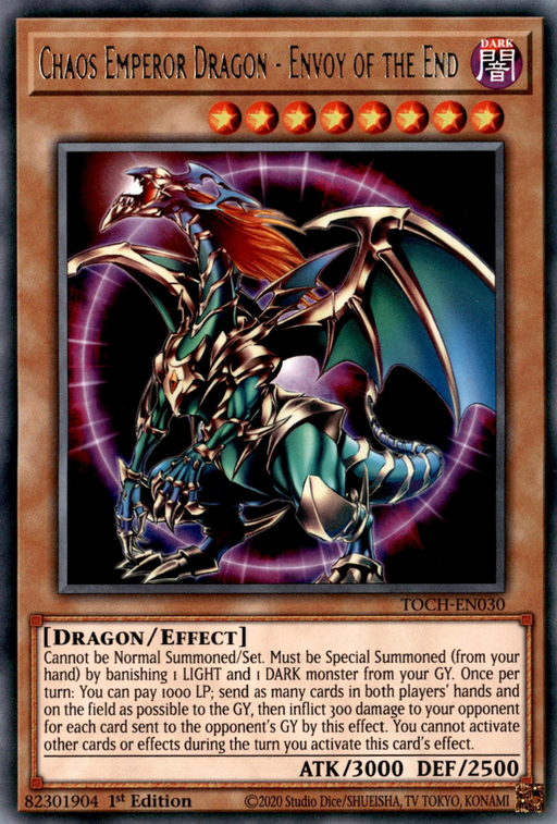 Chaos Emperor Dragon - Envoy of the End / Rare - TOCH-EN030 - Unlimited