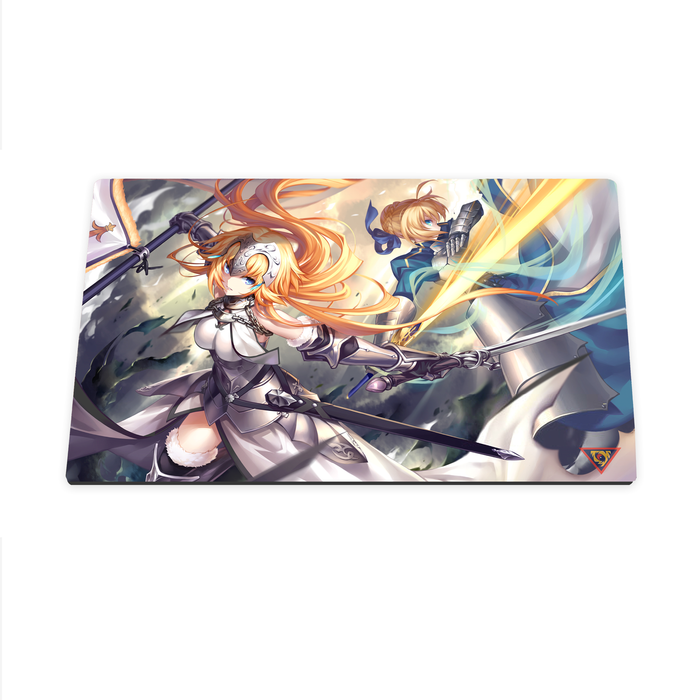 Yugioh Playmat / Mouse Pad: Fate, Saber & Ruler 01