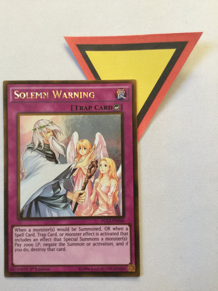 Solemn Warning - Gold - PGL2-EN068 - 1st Ed.