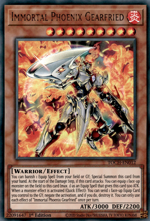 Yugioh Immortal Phoenix Gearfried / Collector's Rare - TOCH-EN012 - Unlimited