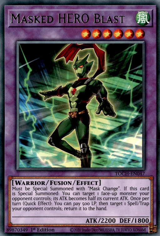 Masked HERO Blast / Rare - TOCH-EN047 - Unlimited