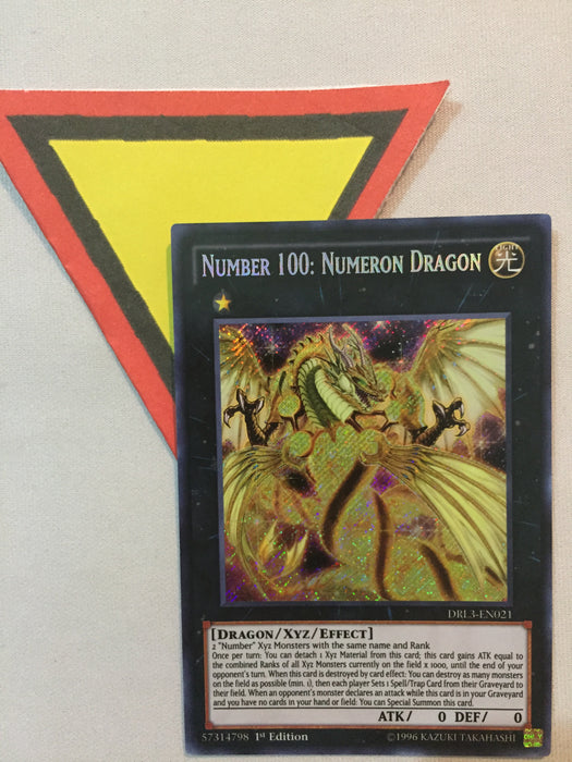 Number 100: Numeron Dragon / Secret - DRL3-EN021 - 1st