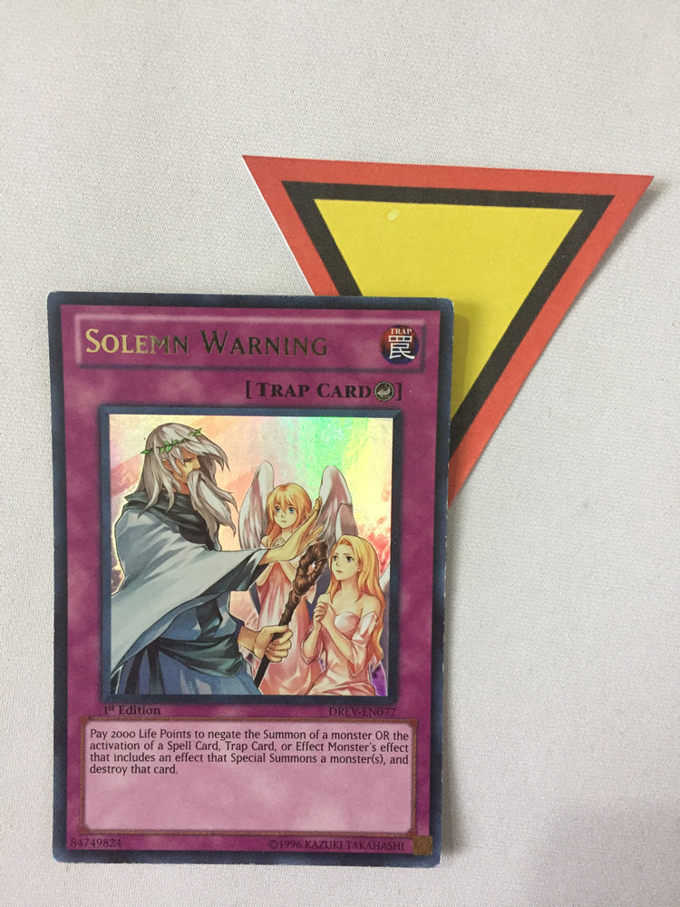 SOLEMN WARNING - ULTRA - DREV-EN077 - 1ST ED