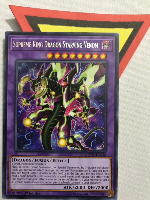 Supreme King Dragon Starving Venom / Rare - COTD-EN038 - 1st