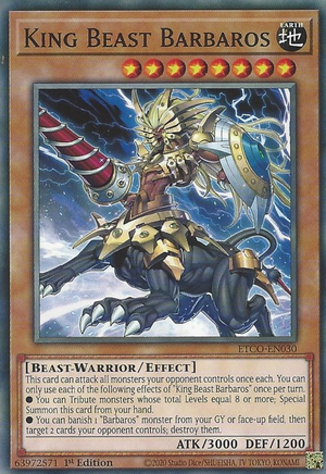 King Beast Barbaros / Common - ETCO-EN030 - 1st