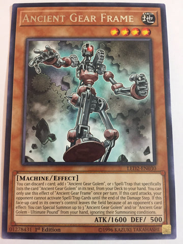 Ancient Gear Frame - Rare - LED2-EN030 - 1st