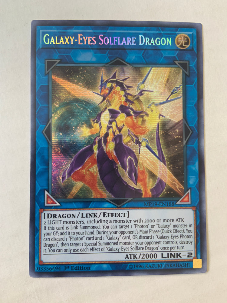 Galaxy-Eyes Solflare Dragon / Secret - MP19-EN188 - 1st