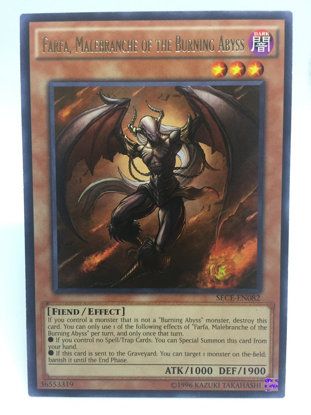 Farfa, Malebranche of the Burning Abyss / Rare - SECE-EN082