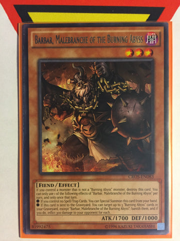 BARBAR, MALEBRANCHE OF THE BURNING ABYSS - RARE - VARIOUS - 1ST