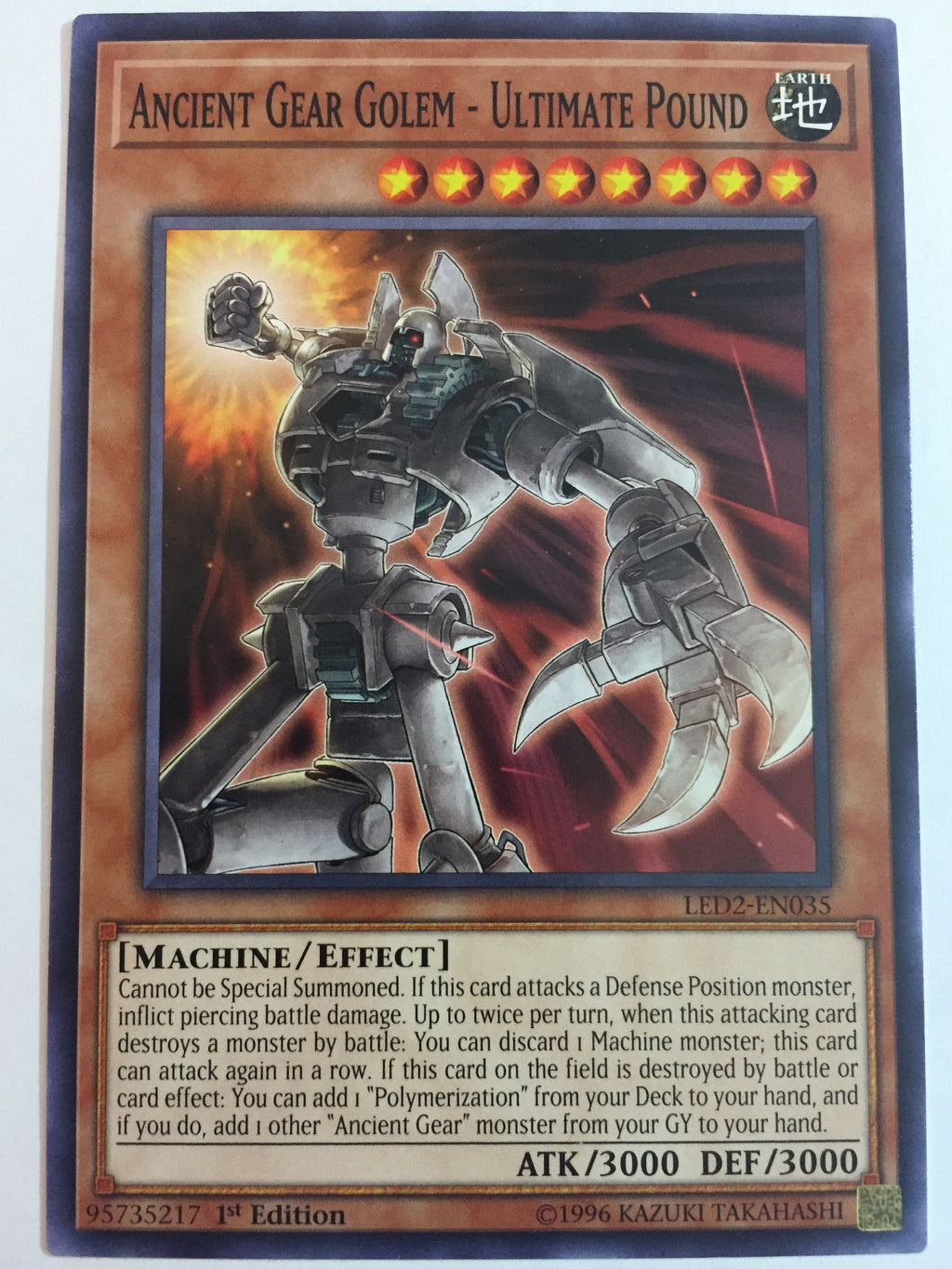 Ancient Gear Golem - Ultimate Pound - Common - LED2-EN035 - 1st