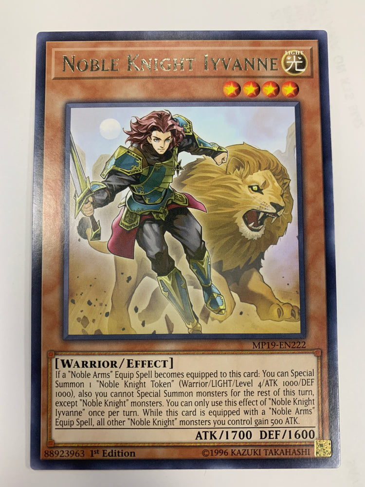 Noble Knight Iyvanne / Rare - MP19-EN222 - 1ST