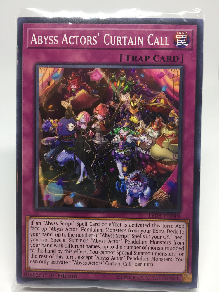 Abyss Actors' Curtain Call / Common - LED3-EN049 - 1st