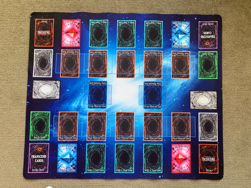 Playmat / Mouse Pad: 2-Player Link Format (Blue Galaxy style)