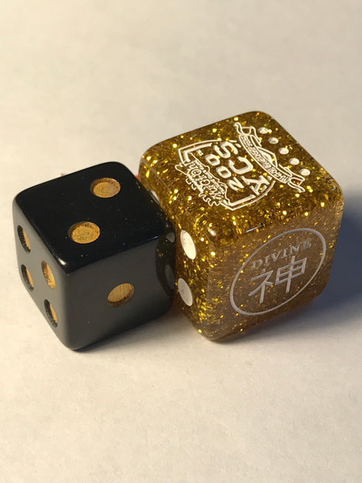 Black Wooden Dice