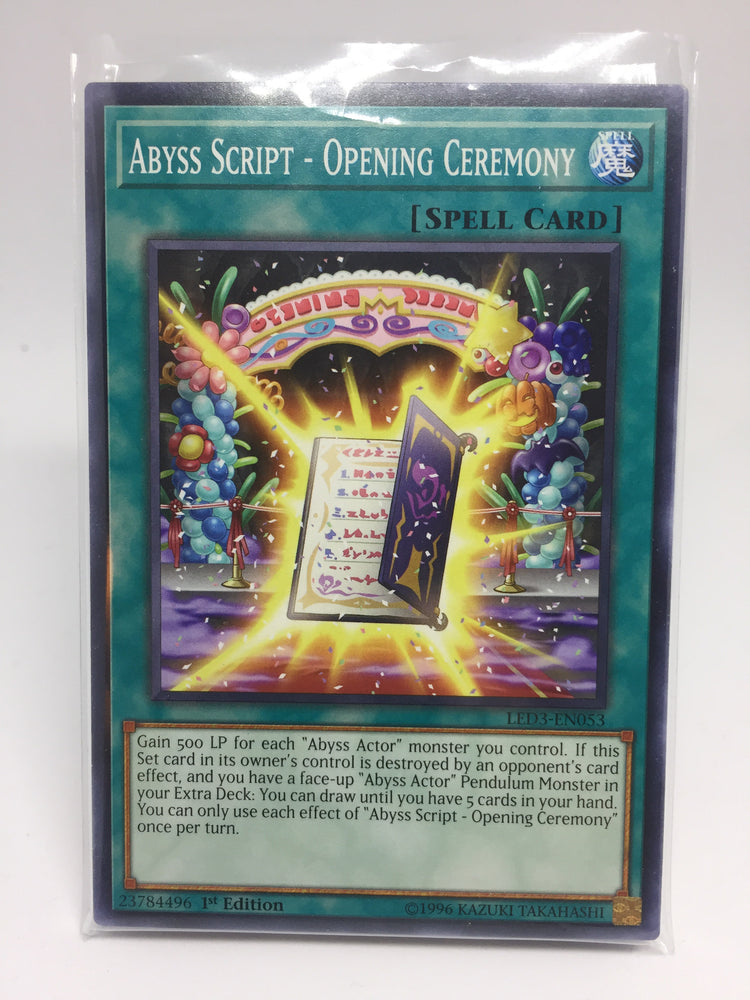 Abyss Script - Opening Ceremony / Common - LED3-EN053 - 1st