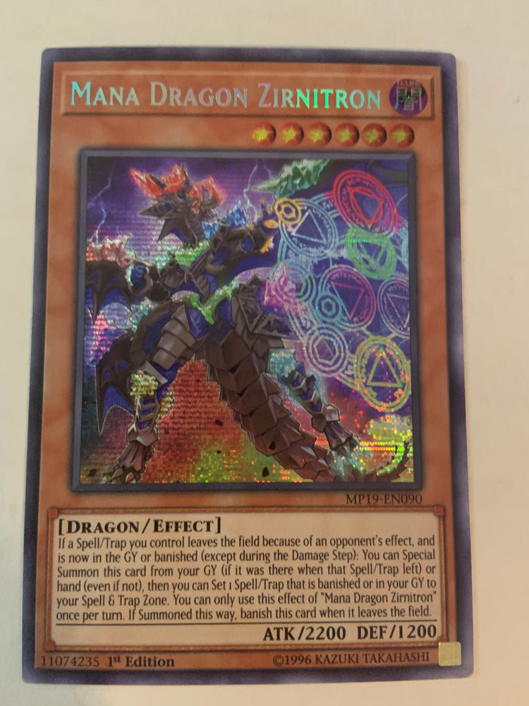 Mana Dragon Zirnitron / Prismatic Secret - MP19-EN090 - 1st