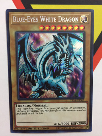 BLUE-EYES WHITE DRAGON - SECRET - CT14-EN002 - 1ST