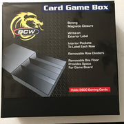 BCW Gaming Card Game Deck Box - 3 Row - Black With White