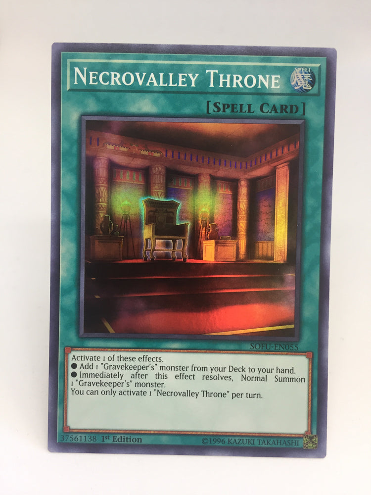 Necrovalley Throne / Super Rare - SOFU-EN055 - 1st