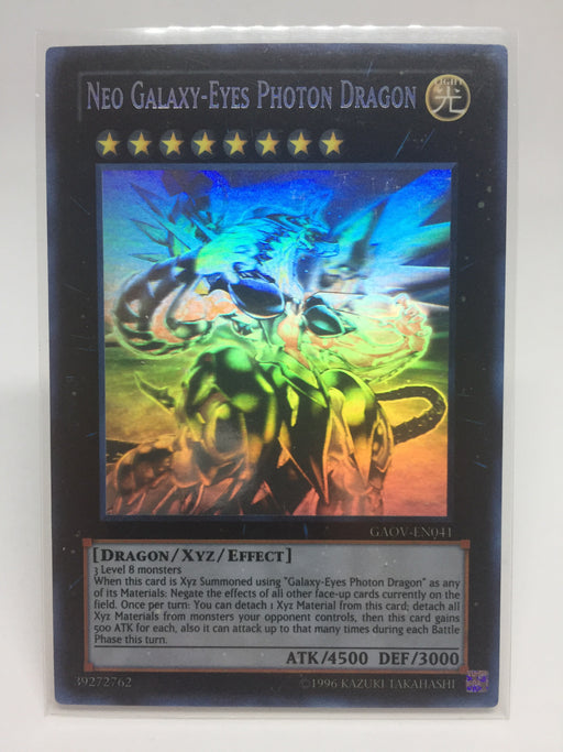 Yugioh Neo Galaxy-Eyes Photon Dragon / Ghost - GAOV-EN041