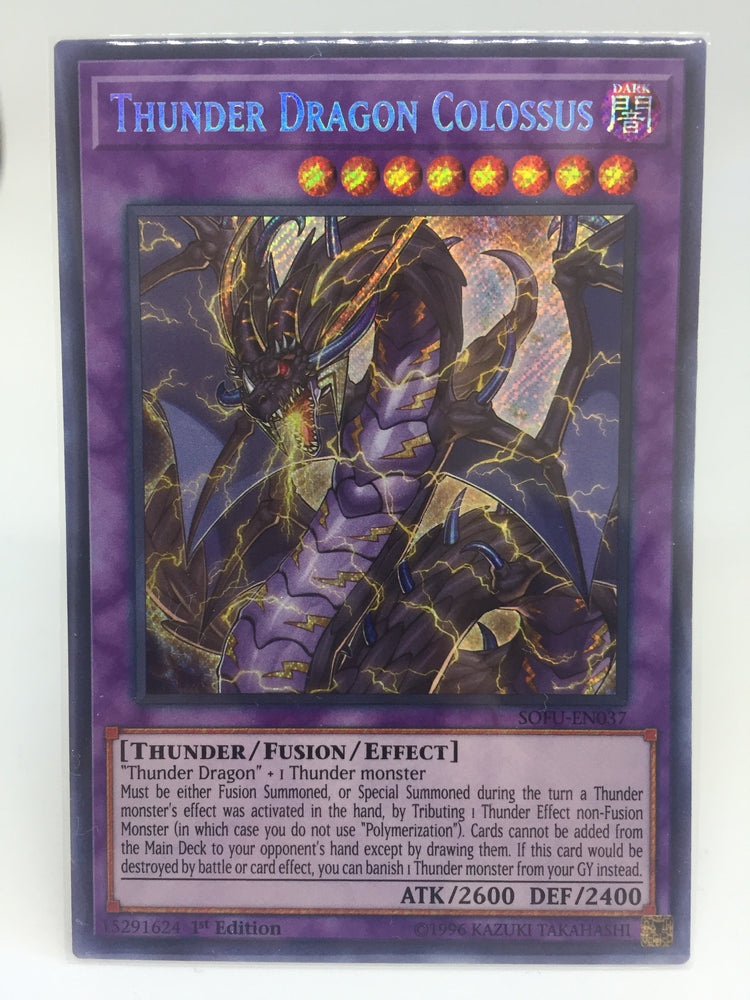 Thunder Dragon Colossus / Secret Rare - SOFU-EN037 - 1st