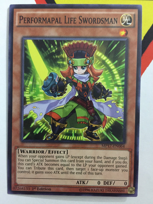 PERFORMAPAL LIFE SWORDSMAN - COMMON - MP17-EN064 - 1ST