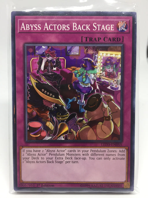 Abyss Actors Back Stage / Common - LED3-EN055 - 1st