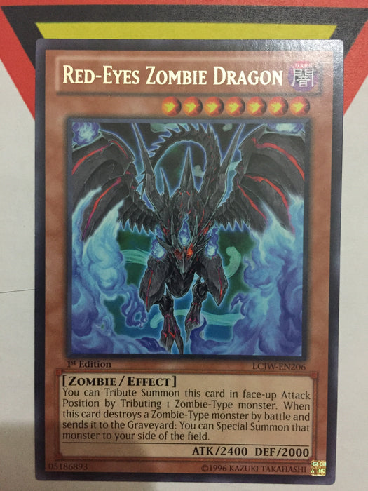 Red-Eyes Zombie Dragon - Rare - LCJW-EN206 - 1st