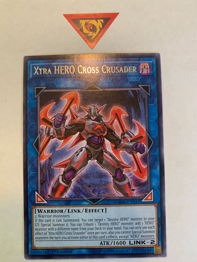 Xtra HERO Cross Crusader DANE-EN045 Rare 1st Edition YuGiOh Card New