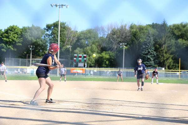 Sports Braces in Action on Softball Field