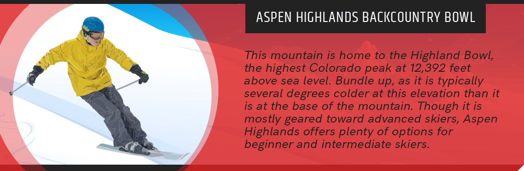 aspen highlands backcountry bowl graphic