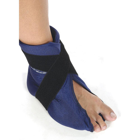 ELASTO GEL HOT/COLD FOOT/ANKLE WRAP, FLEXIBLE, MICROWAVEABLE
