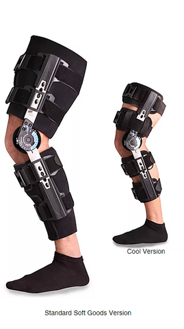 Ovation Medical Compact Pro,Post Op Knee w/Quick Release Buckle, with Drop Lock