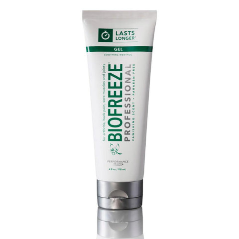 COLORLESS BIOFREEZE PROFESSIONAL, 4-OZ. TUBE, GEL