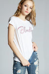 Blondie Pink Crystal Fitted Tee