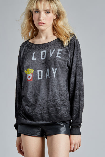 I Love Fry-Day Pull Over Sweatshirt