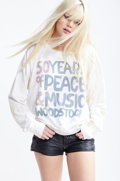 Woodstock 50 Years Natural Dye Sweatshirt
