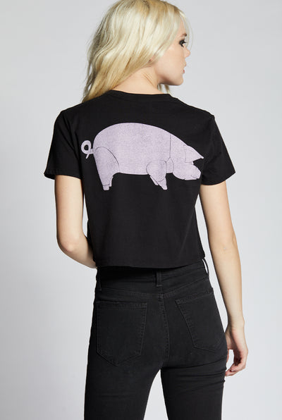 Pink Floyd Animals Cropped Tee