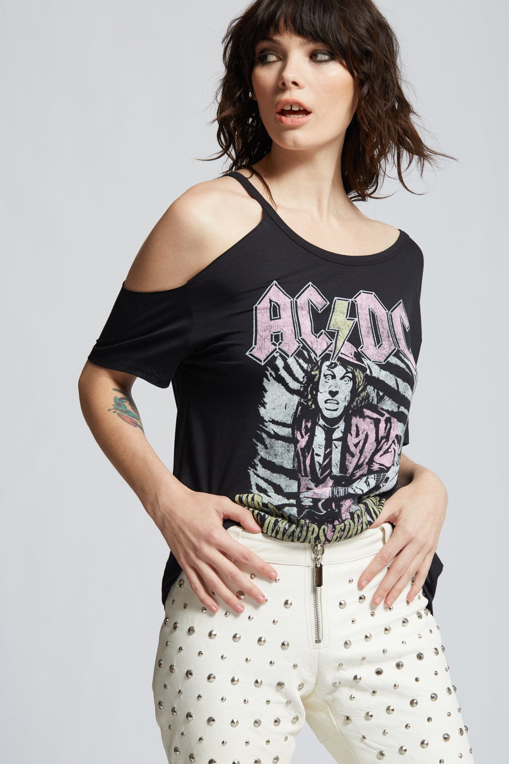 AC/DC The Razors Edge Tour Cold Shoulder Tee