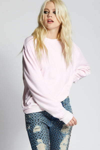 Crystal Pink Fitted Sweatshirt