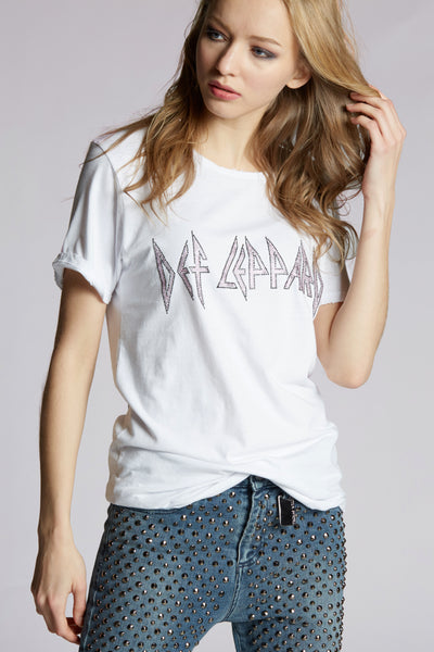Def Leppard Crystal Oversized Tee