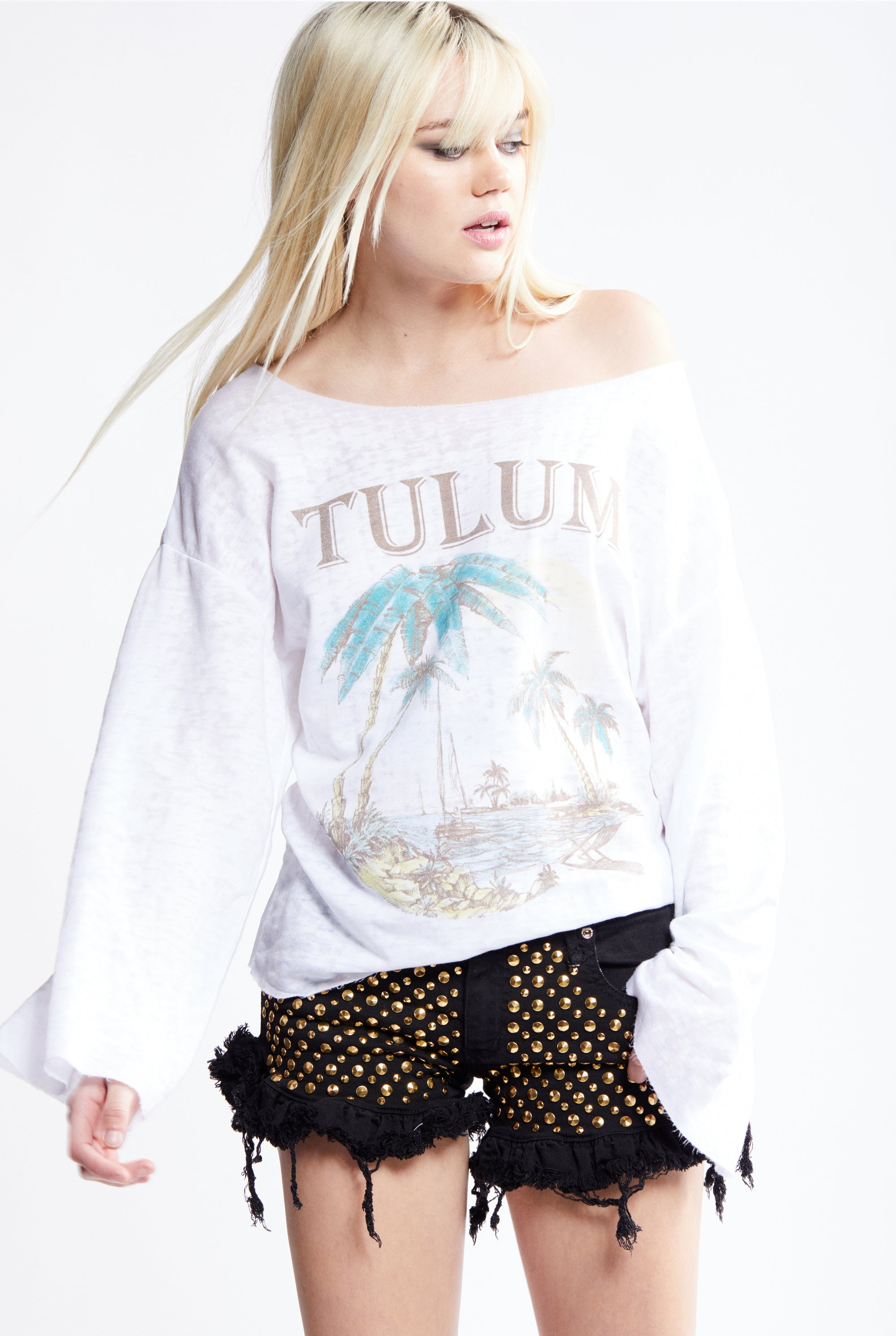 Take Me To Tulum Bell Sleeve