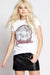 Blondie Band Crystal Embellished Tee