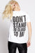 Police Don't Stand So Close Slit Sleeve Tee