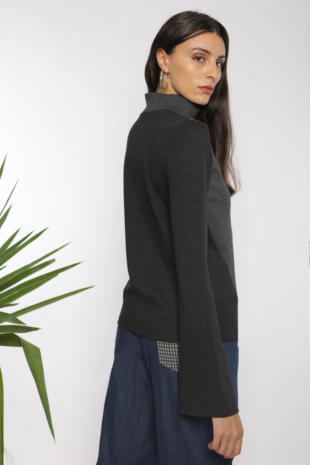 Architectural knit top