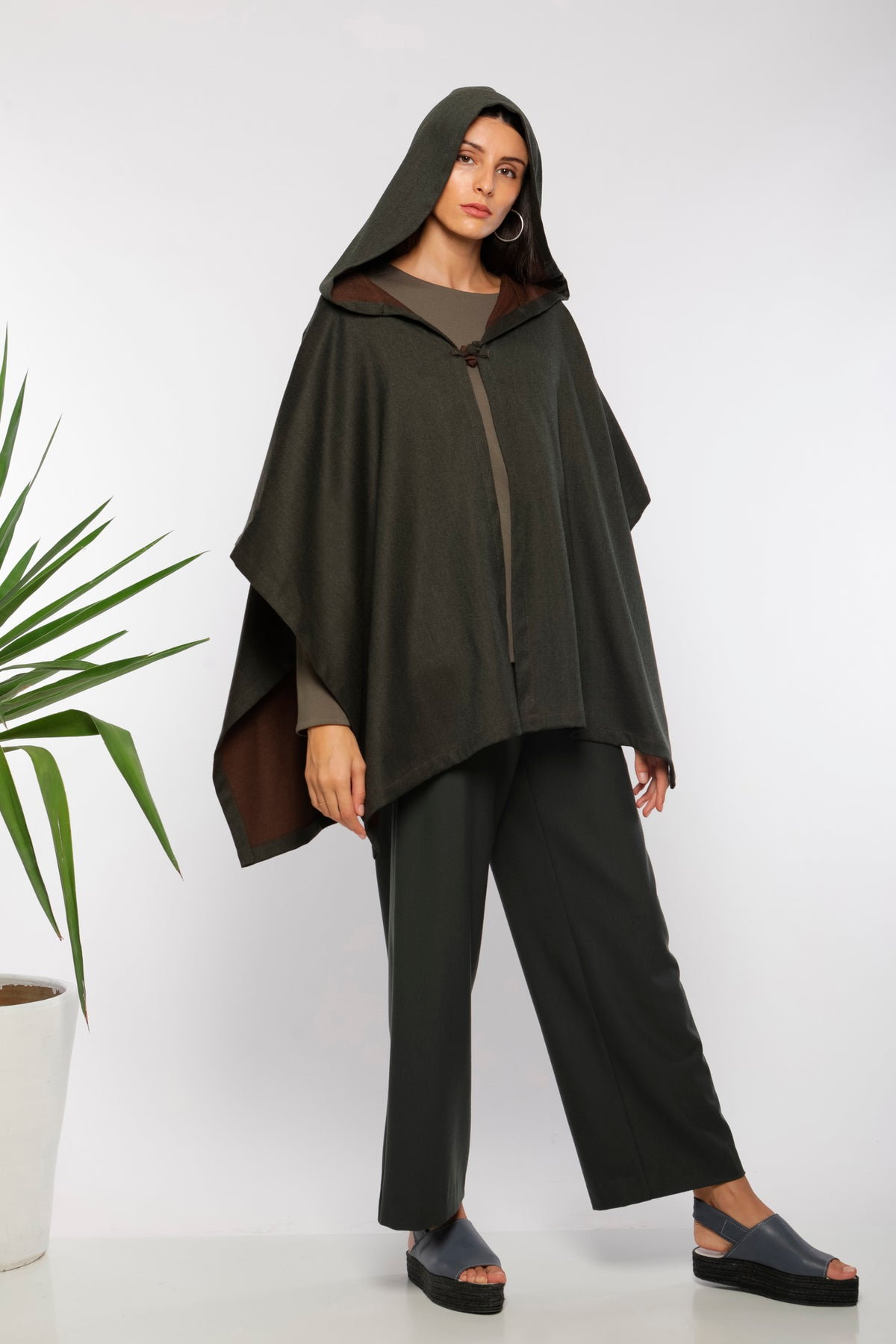 Barnous cape reversible