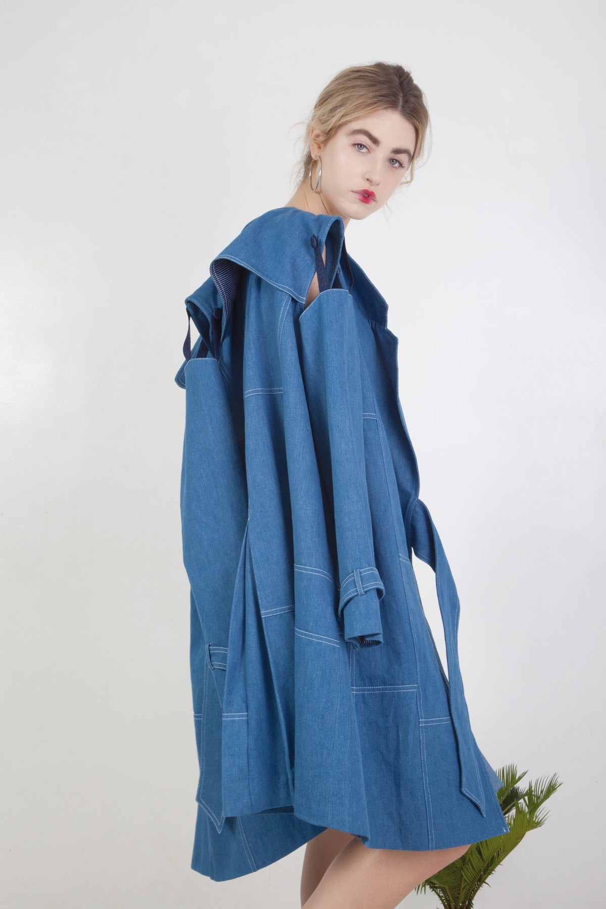 Patchwork Trench Coat W/ Removable Sleeves