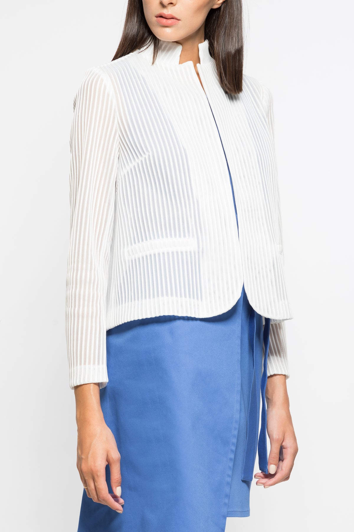 Transparency tailored jacket