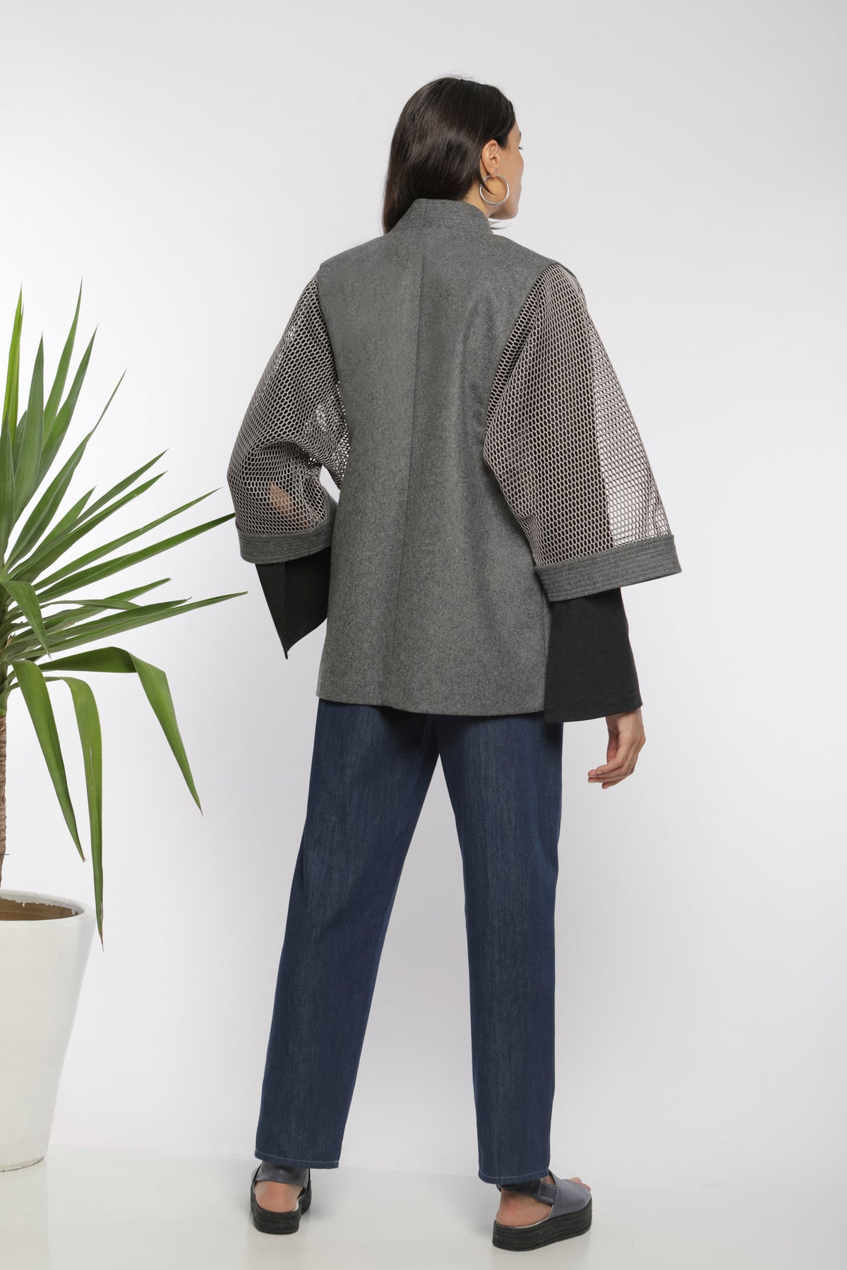 Keikogi jacket wool and neoprene