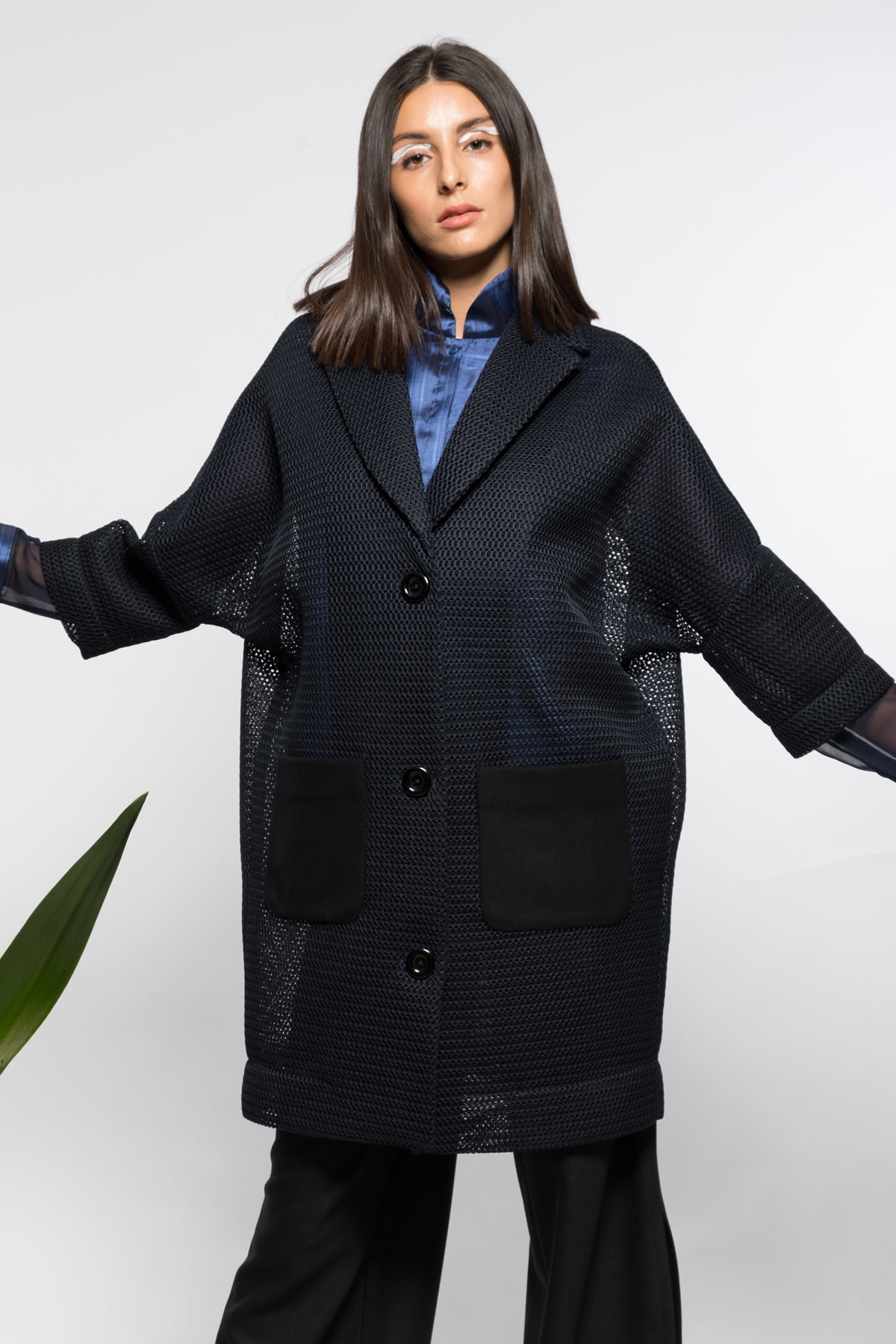 Mediterranean coat in neoprene